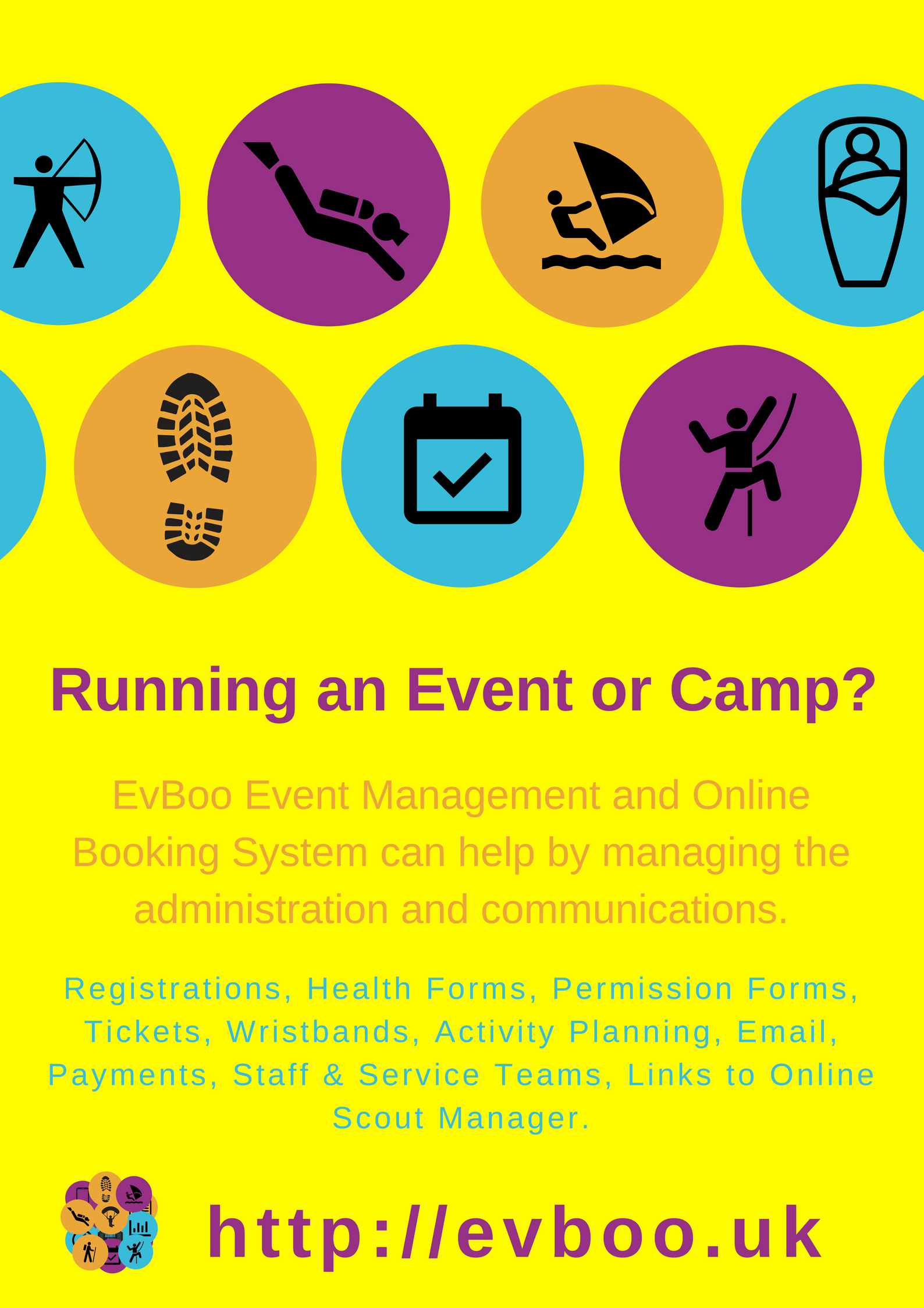 Running an Event or Camp? Get EvBoo